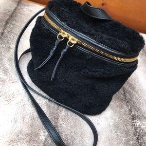Margot Shearling Bucket Cross Body Bag